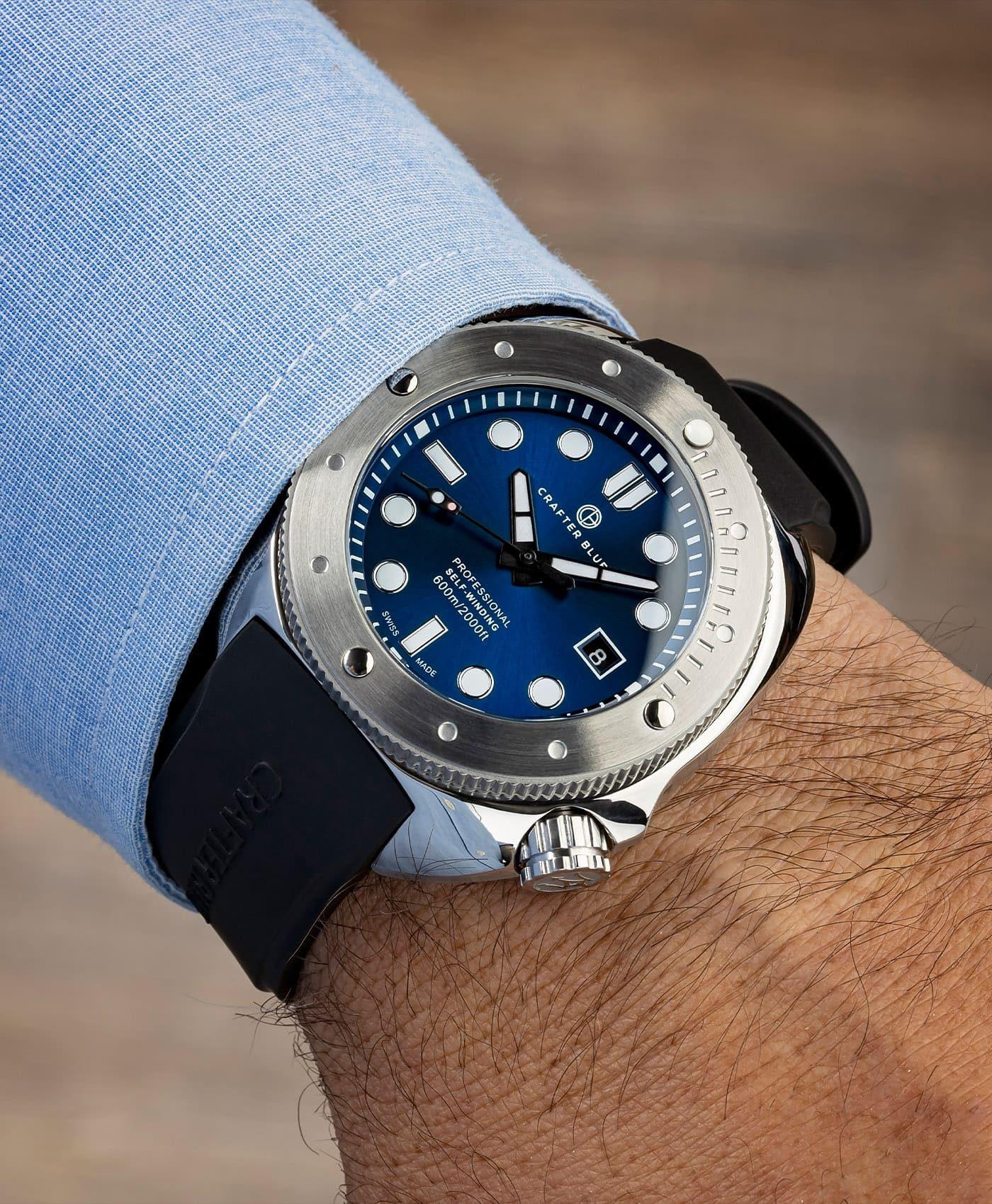 Crafter Blue CRAFTER BLUE HYPERION OCEAN 45MM blue dial wrist shot