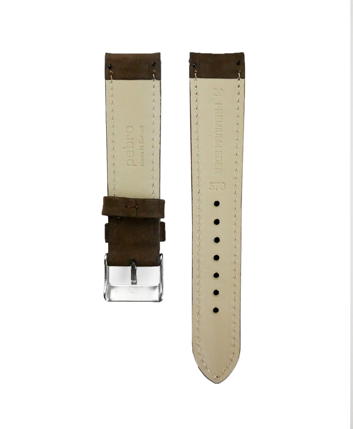Pebro Premium Calfskin Watch Strap Coffee/Dark back