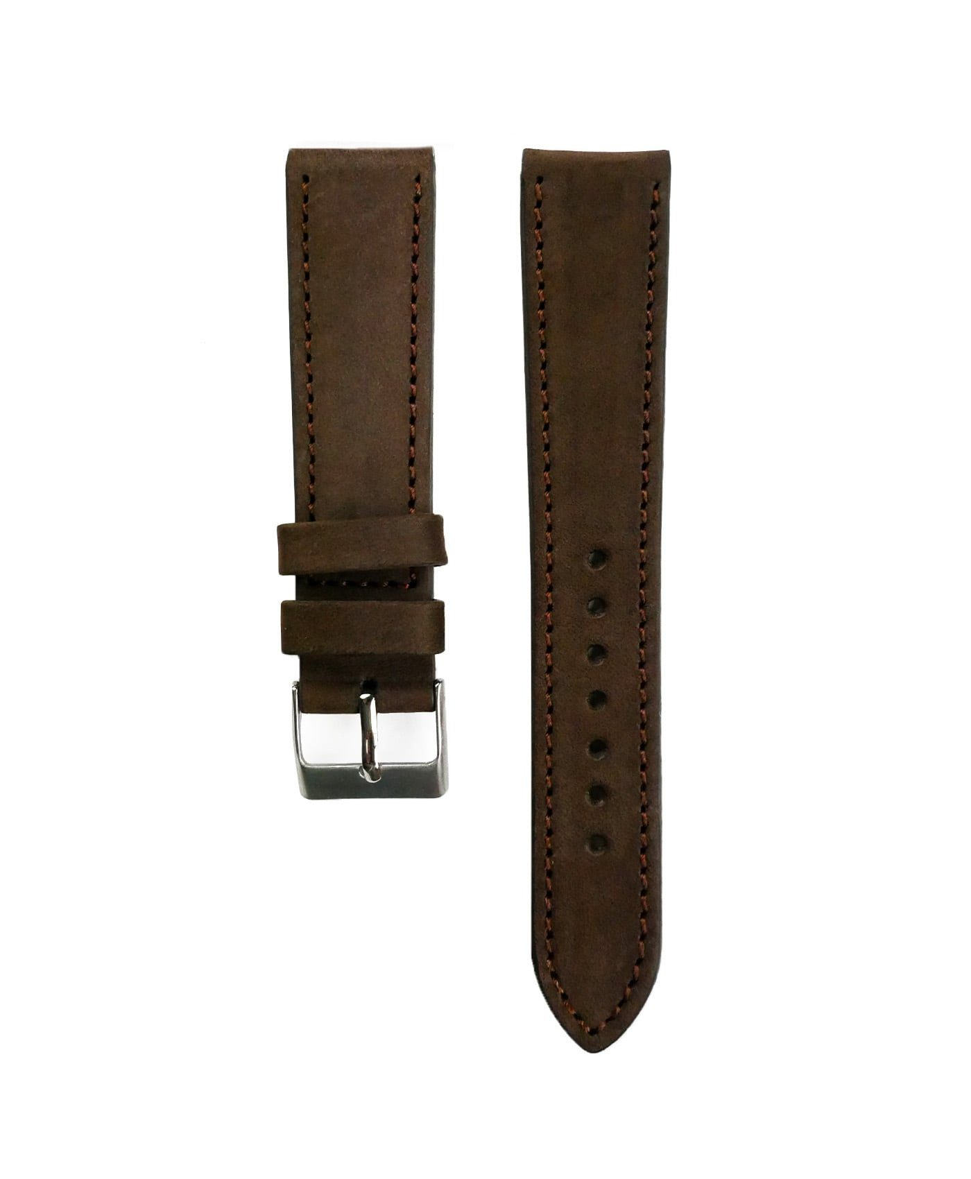 Pebro Premium Calfskin Watch Strap Hazelnut/Dark Brown No 191