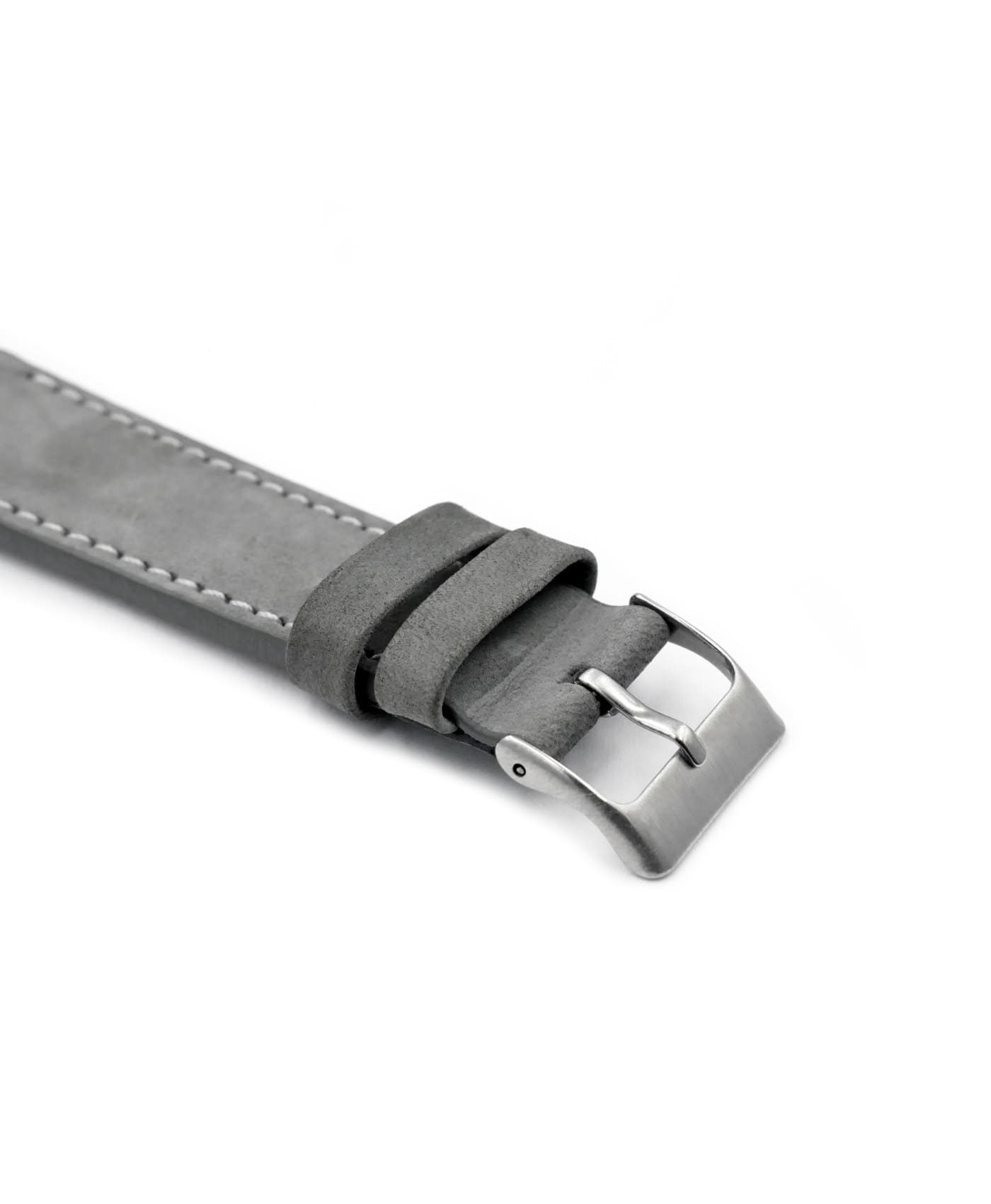 Pebro Premium Calfskin Watch Strap Grey No 582 buckle close up