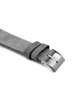 Pebro Premium Calfskin Watch Strap Grey No 582 buckle close up