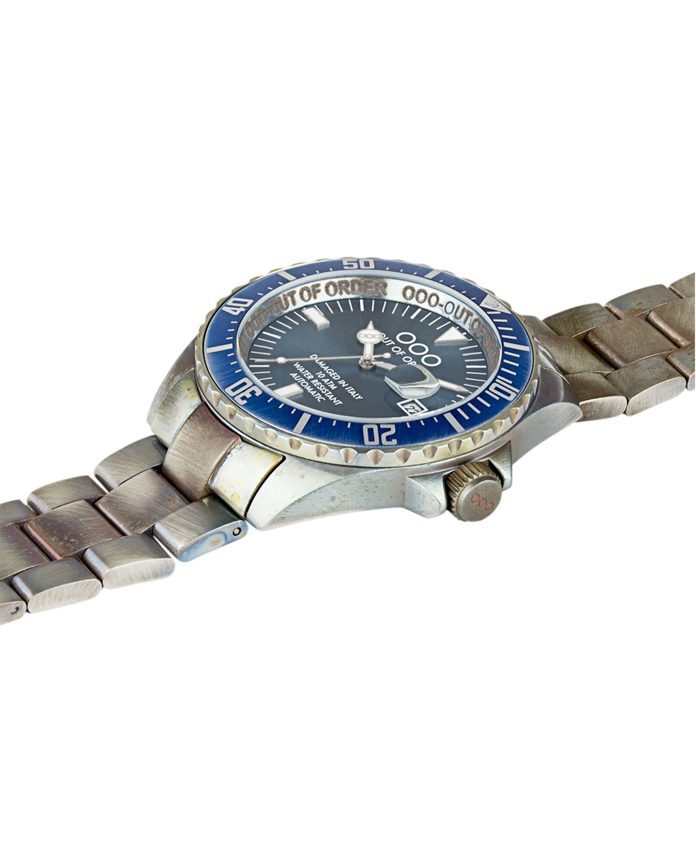 WB Watch Out Of Order Automatico blue side