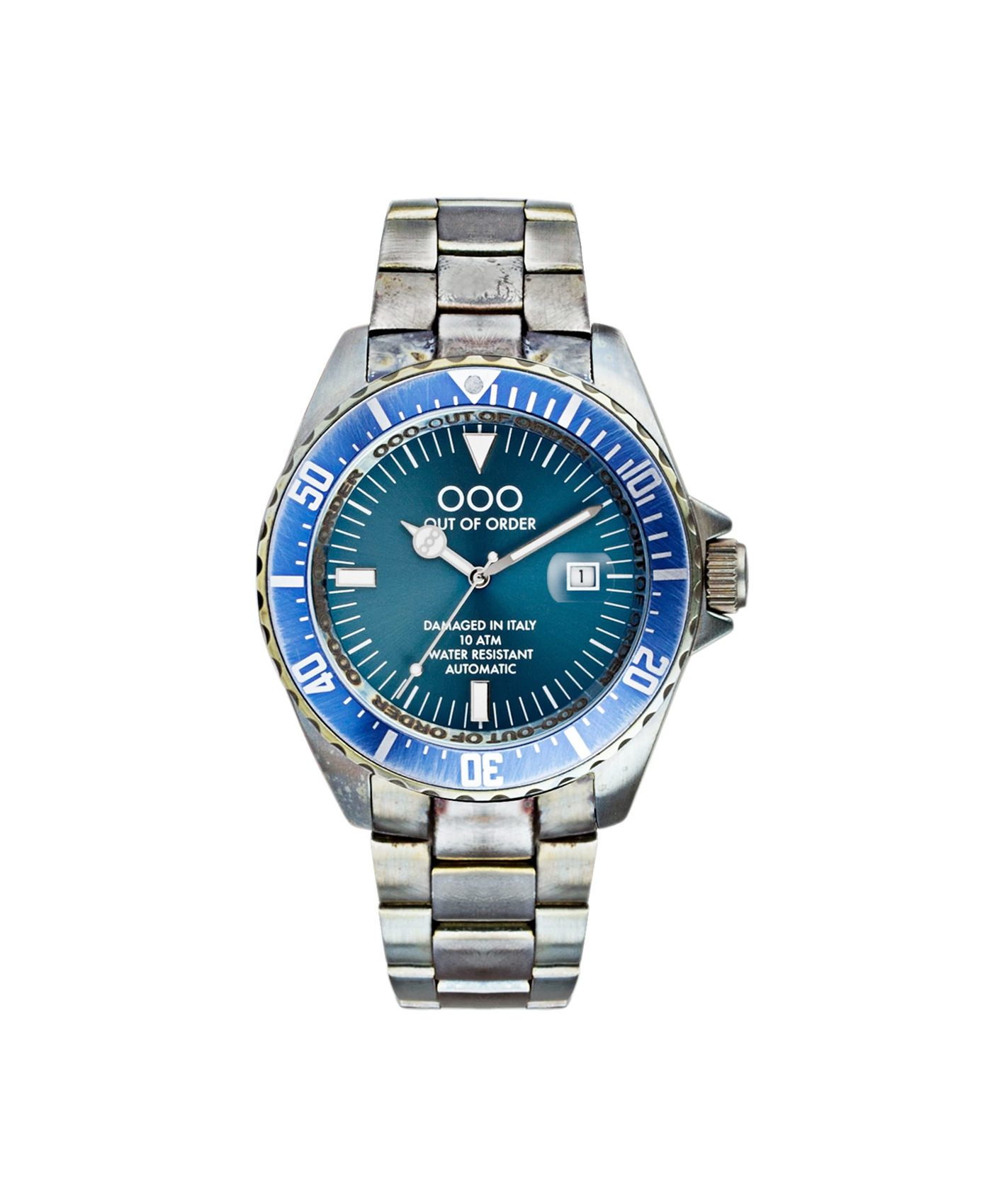 WB Watch Out Of Order Automatico blue front
