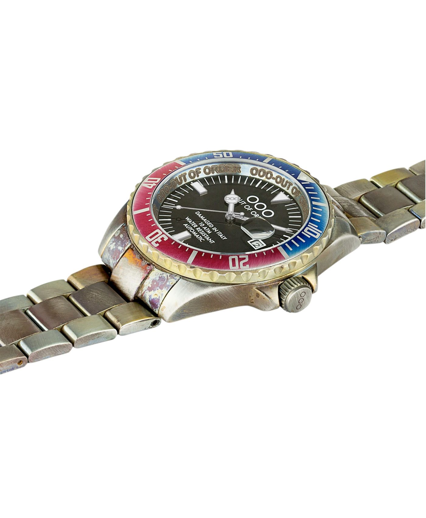 WB Watch Out Of Order Automatico red and blue side
