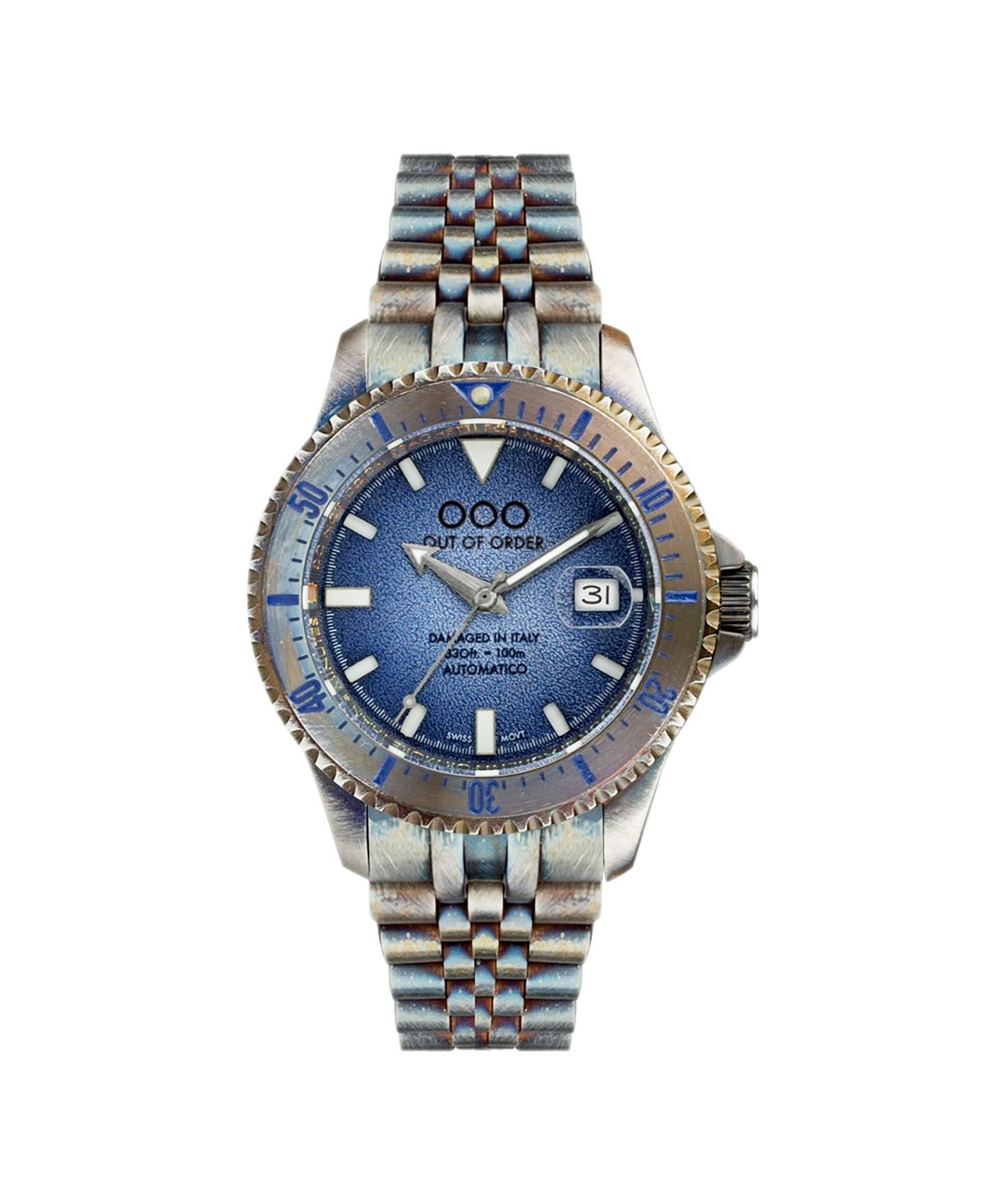 WB Watch Out Of Order blue Swiss Automatico front