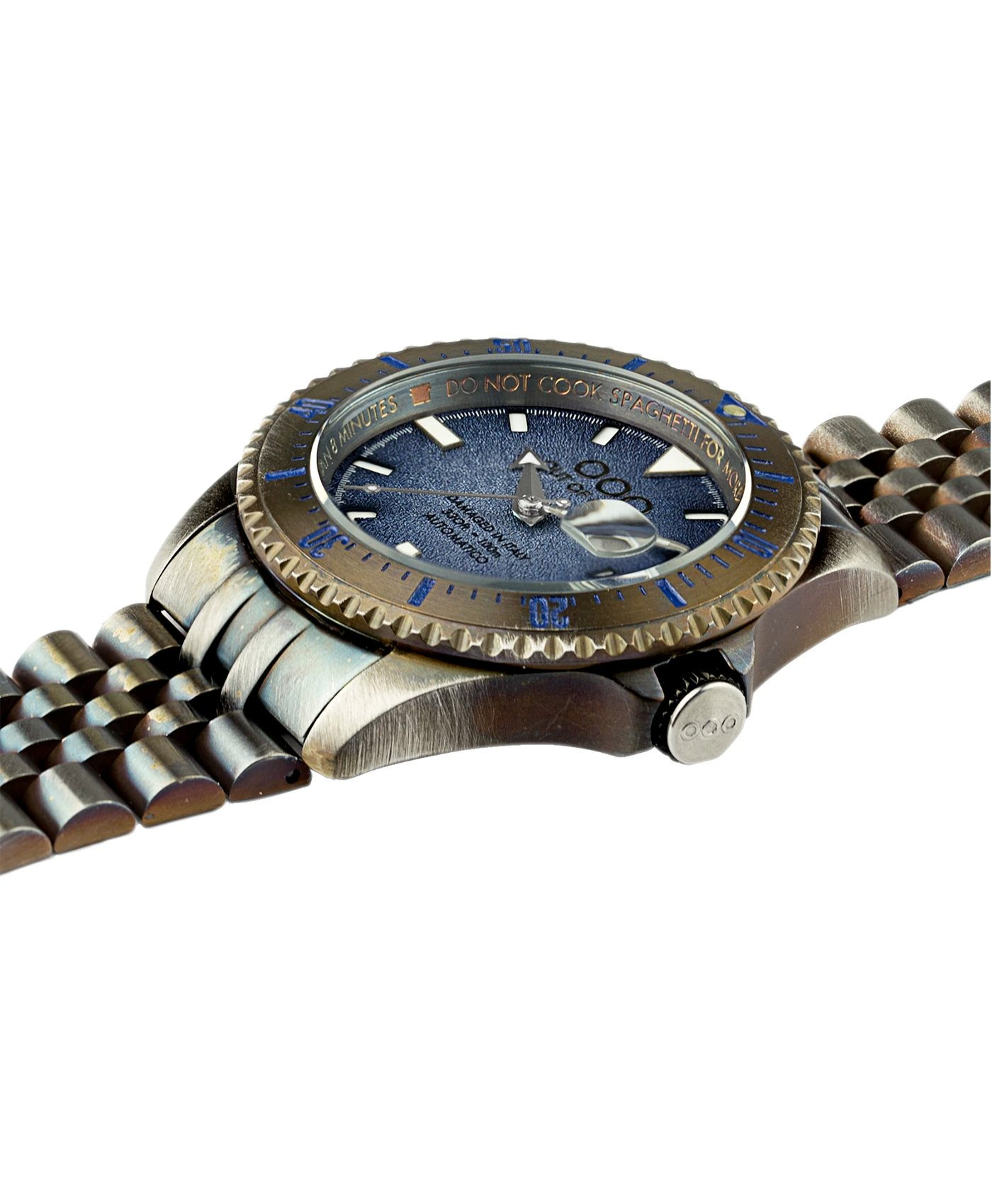 WB Watch Out Of Order blue Swiss Automatico side
