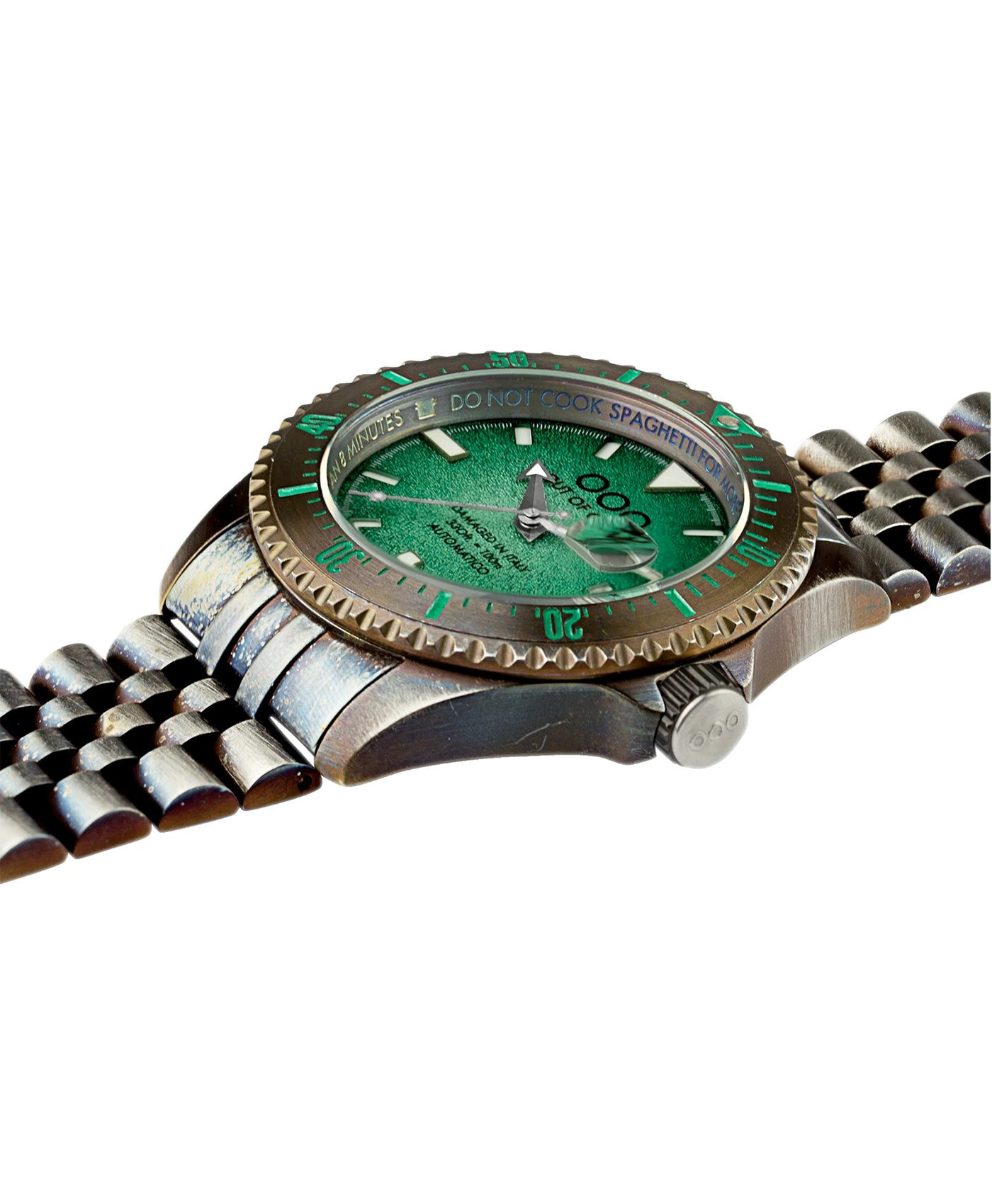 WB Watch Out Of Order green Swiss Automatico side
