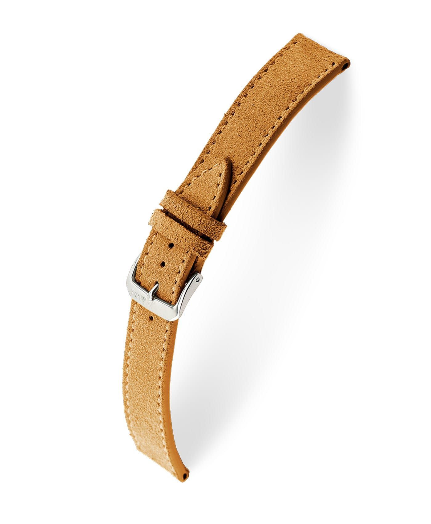RIOS1931 Franklin Suede Watch Strap Cognac 15206 Watchbandit