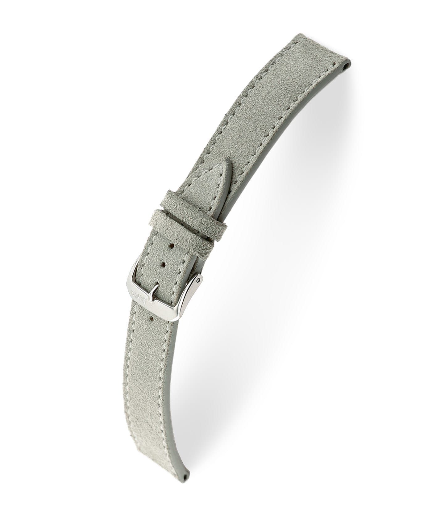 RIOS1931 Franklin Suede Watch Strap Grey 15203 Watchbandit