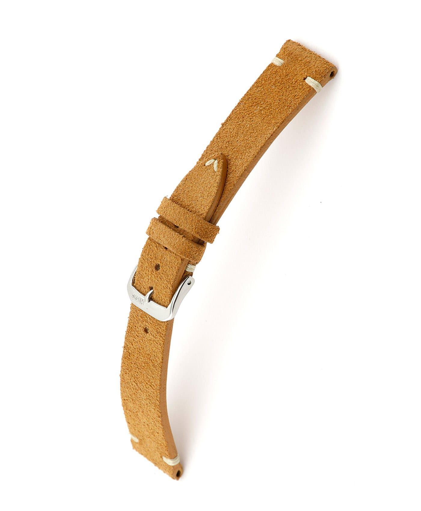 RIOS1931 Hudson Suede Watch Strap Cognac 15506 Watchbandit