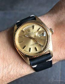 Rolex Day-Date anmitternachts-blauen Vintage-Lederarmband von WB Original