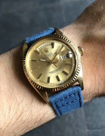 Rolex Day-Date an blauen Canvas-Armband von WB Original