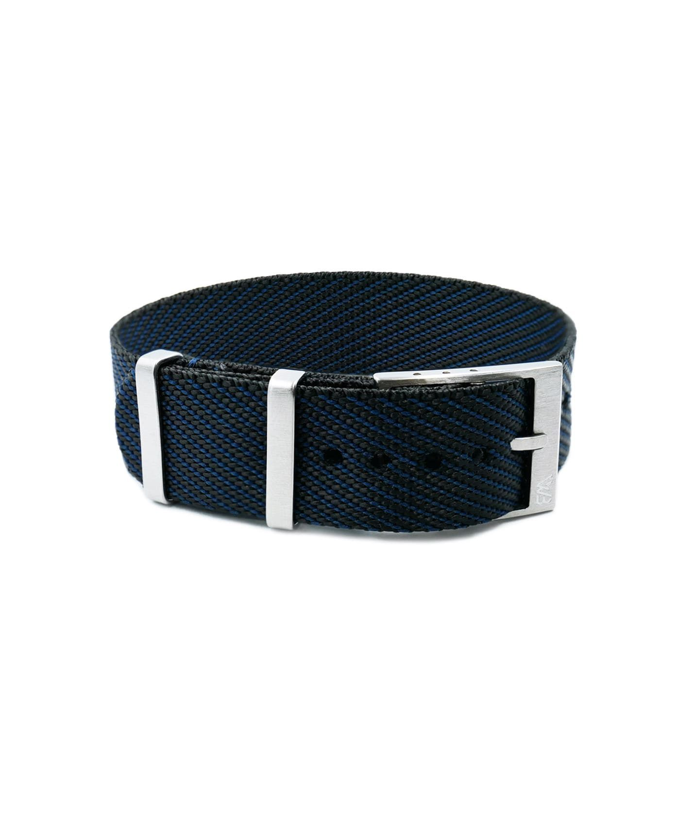 Adjustable NATO strap dark blue black front