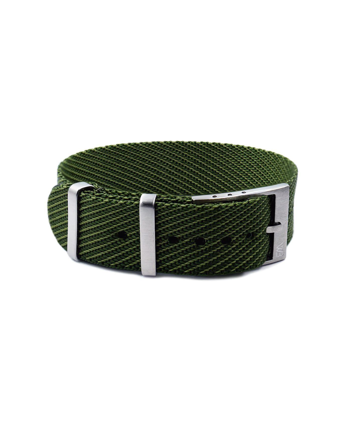 Adjustable NATO strap green front