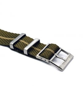 Adjustable NATO strap khaki beige buckle
