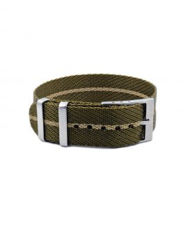 Adjustable NATO strap khaki beige front