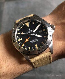 Steinhart Ocean Vintage GMT Uhrenarmband beige canvas strap watchbandit