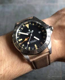 Steinhart Ocean Vintage GMT Strap guide beige segeltuch cordura uhrenarmband