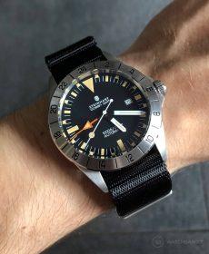 Steinhart Ocean Vintage GMT Strap guide schwarz NATO uhrenarmband