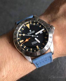 Steinhart Ocean Vintage GMT Strap guide blau canvas leinen armband watchbandit