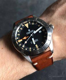 Steinhart Ocean Vintage GMT Strap guide Braun Vintageleder Uhrenarmband