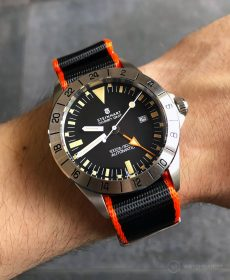 Steinhart Ocean Vintage GMT Strap guide orange schwarz NATO uhrenarmband