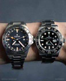 Steinhart Ocean Vintage GMT und Rolex GMT 116710LN Vergleich