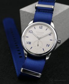 NOMOS Club Campus blue premium NATO uhrenarmband blau Watchbandit