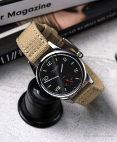 NOMOS Club Campus dunkel beige canvas armband