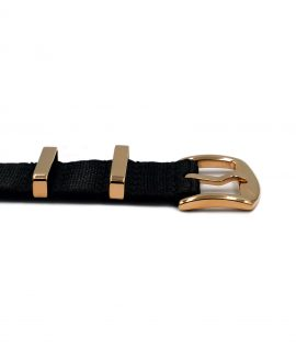 Watchbandit Premium rose gold NATO strap buckle