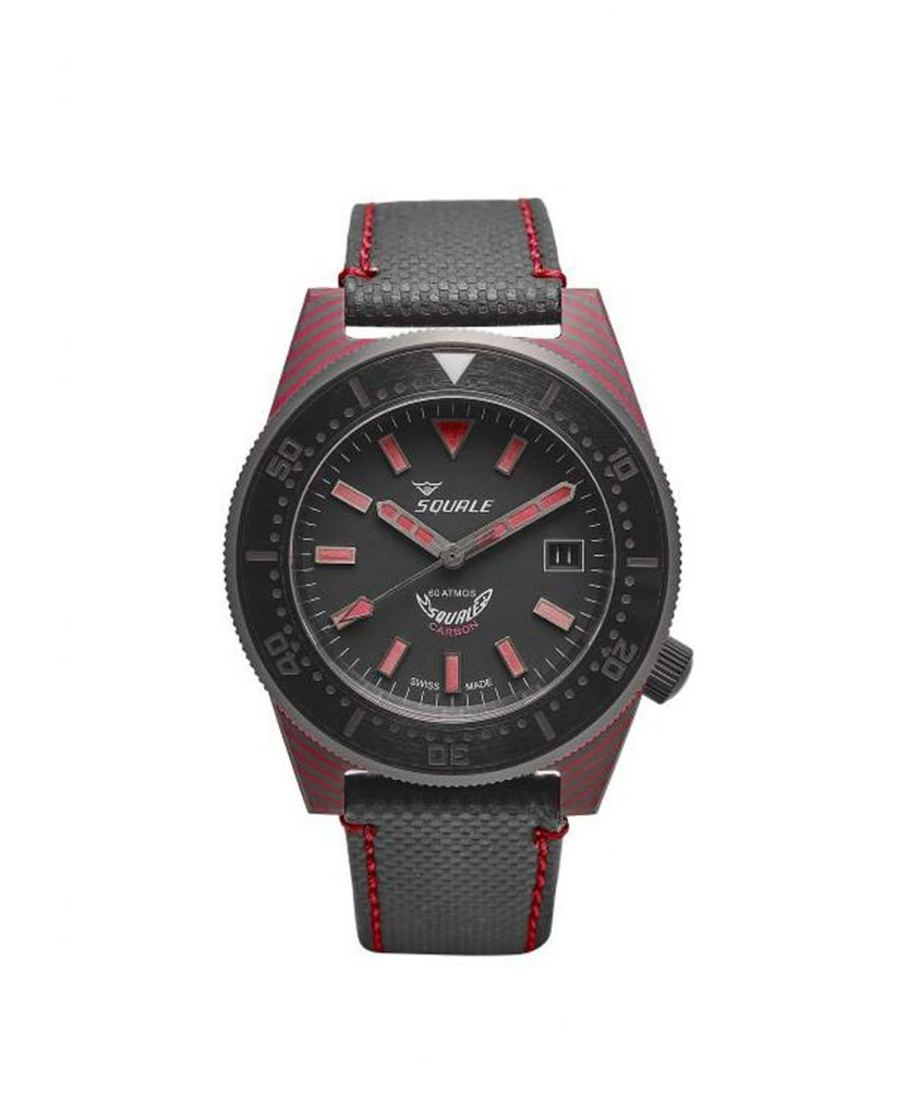 Squale - 60 ATM - T183 Carbon Red front