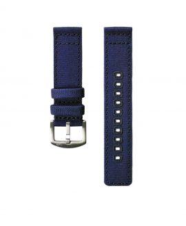 Canvas watch band navy blue Watchbandit