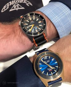 Squale Matic 600 meter Professional Swiss Automatic Dive watch with 44mm wrist shot