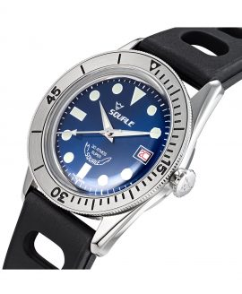Squale SUB-39 RD blue dial side