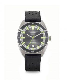 Circula watch AquaSport STP 1-11 Rubber Strap Grey Orange with sunburst dial