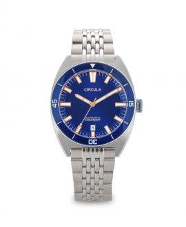 AquaSport, Caliber STP 1-11, Steel Strap, Dark Blue with sunray dial