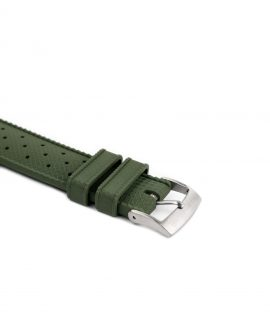 Tropical Rubber watch strap_Green_Buckle