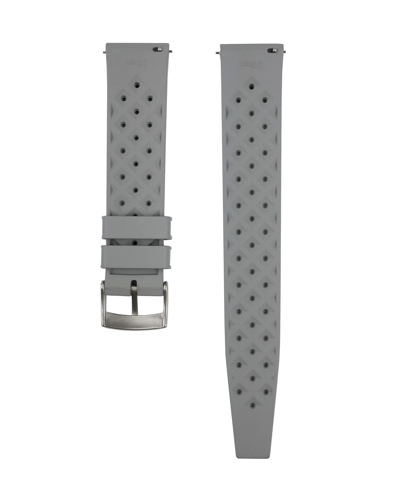 Tropical Rubber watch strap_Grey_Back