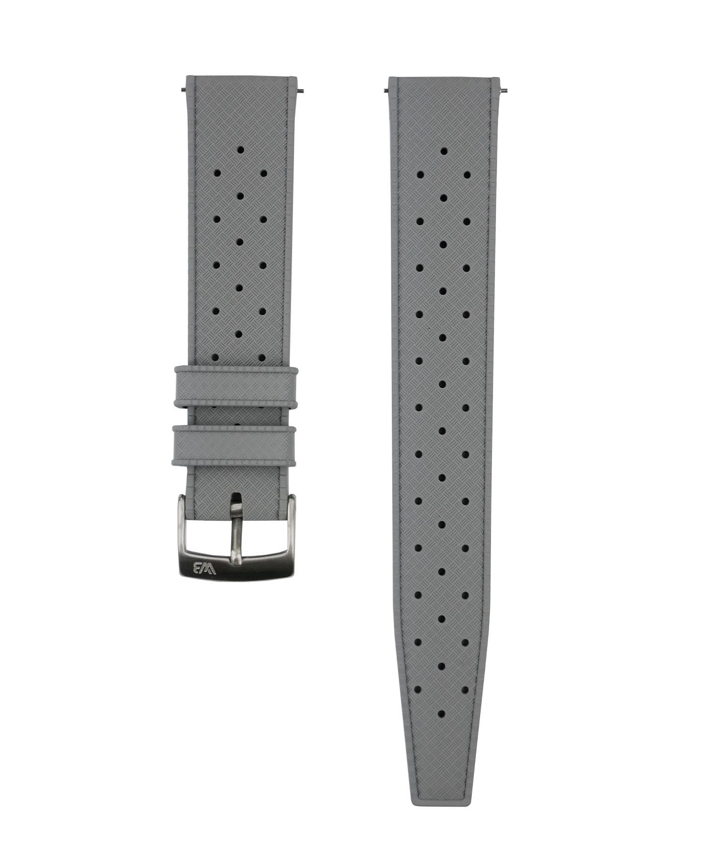 Tropical Rubber watch strap_Grey_Front