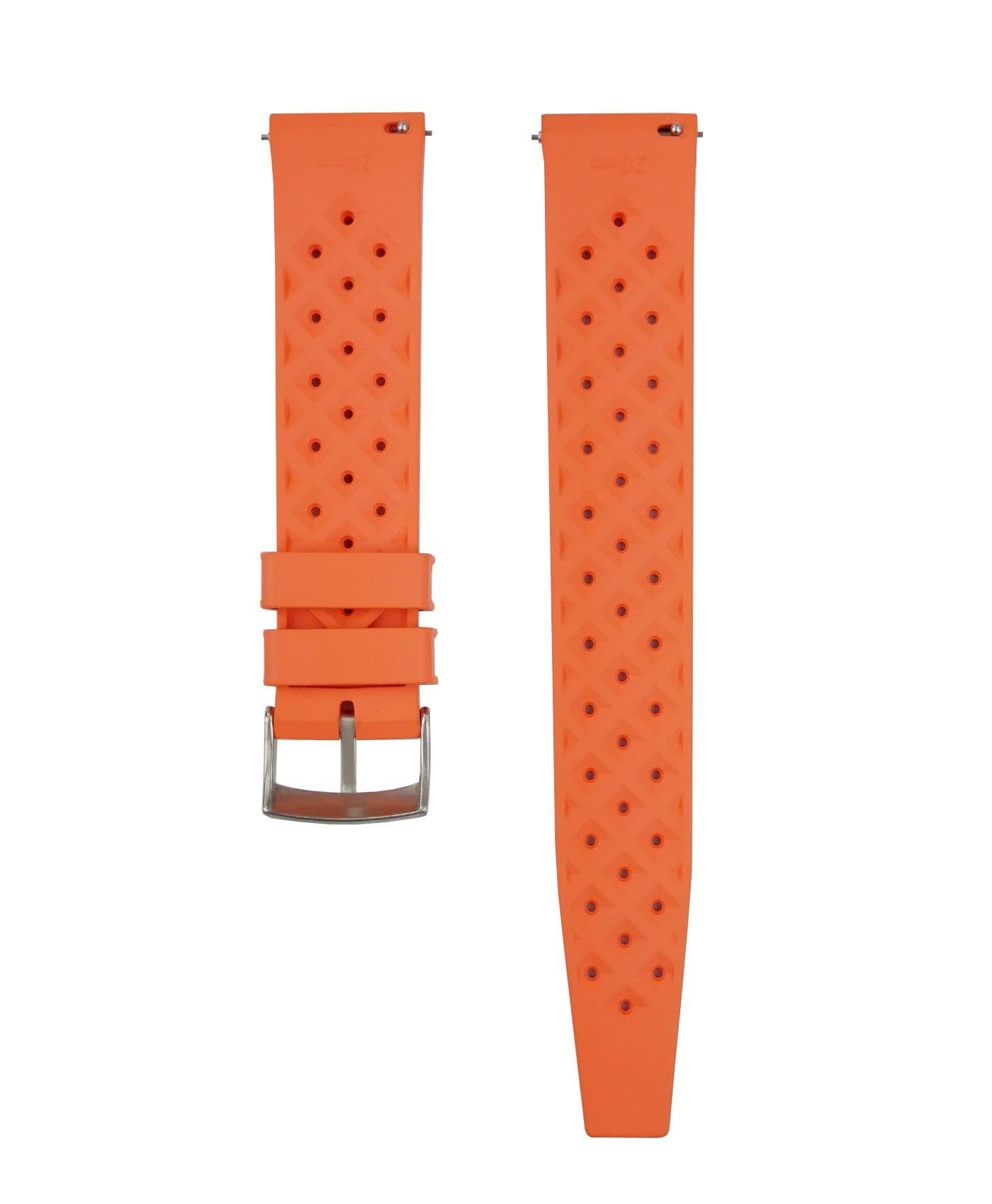 Tropical Rubber watch strap_Orange_Back-min