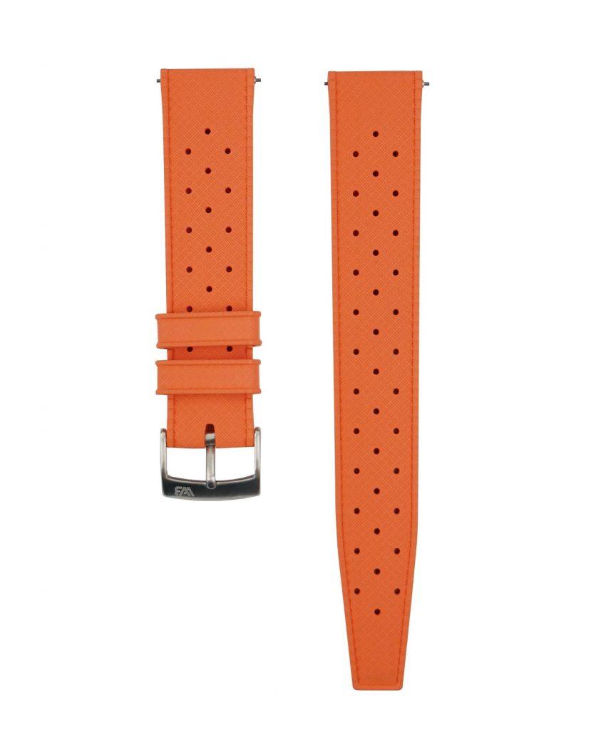 Tropical Rubber watch strap_Orange_Front-min