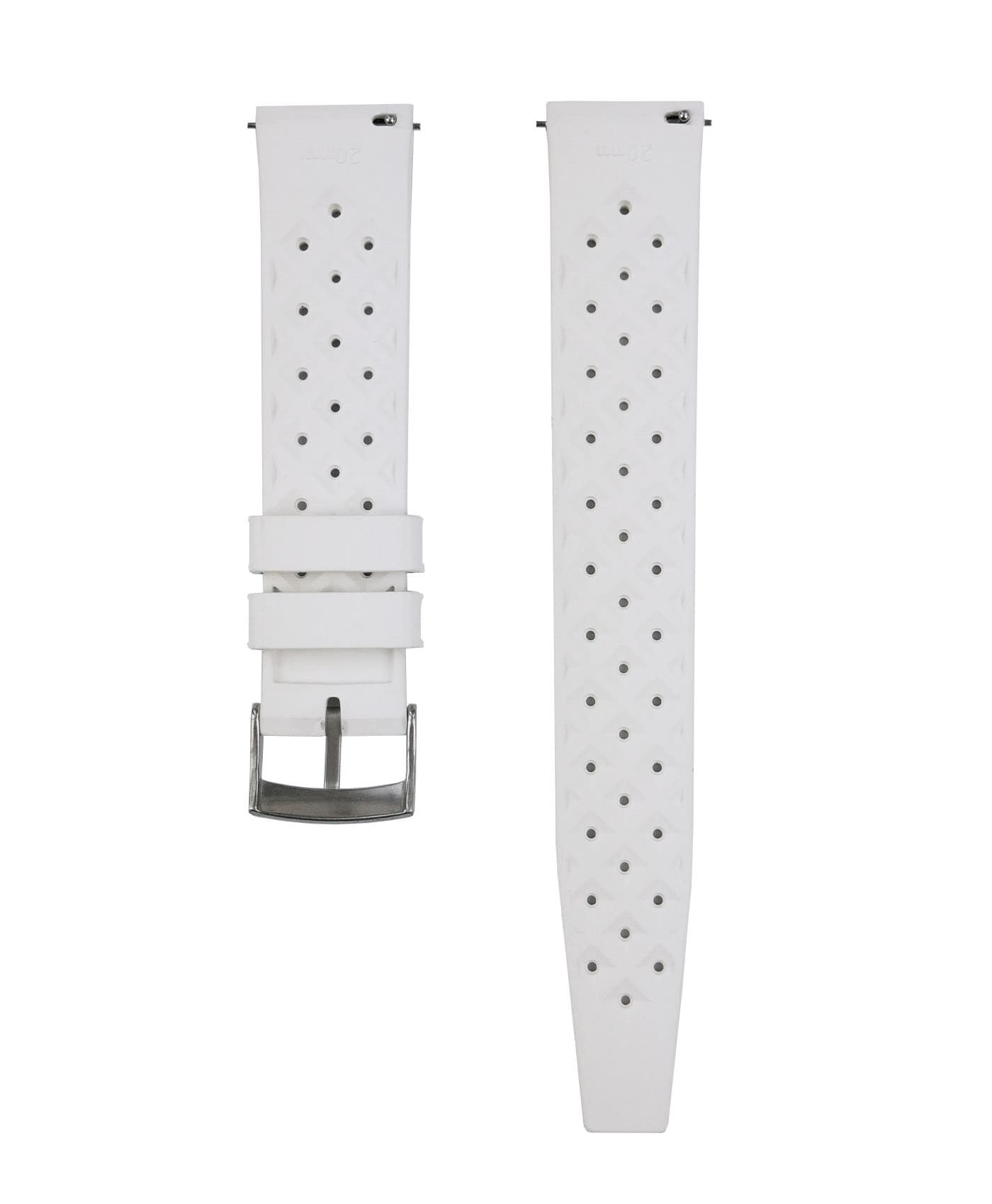 Tropical Rubber watch strap_White_Back