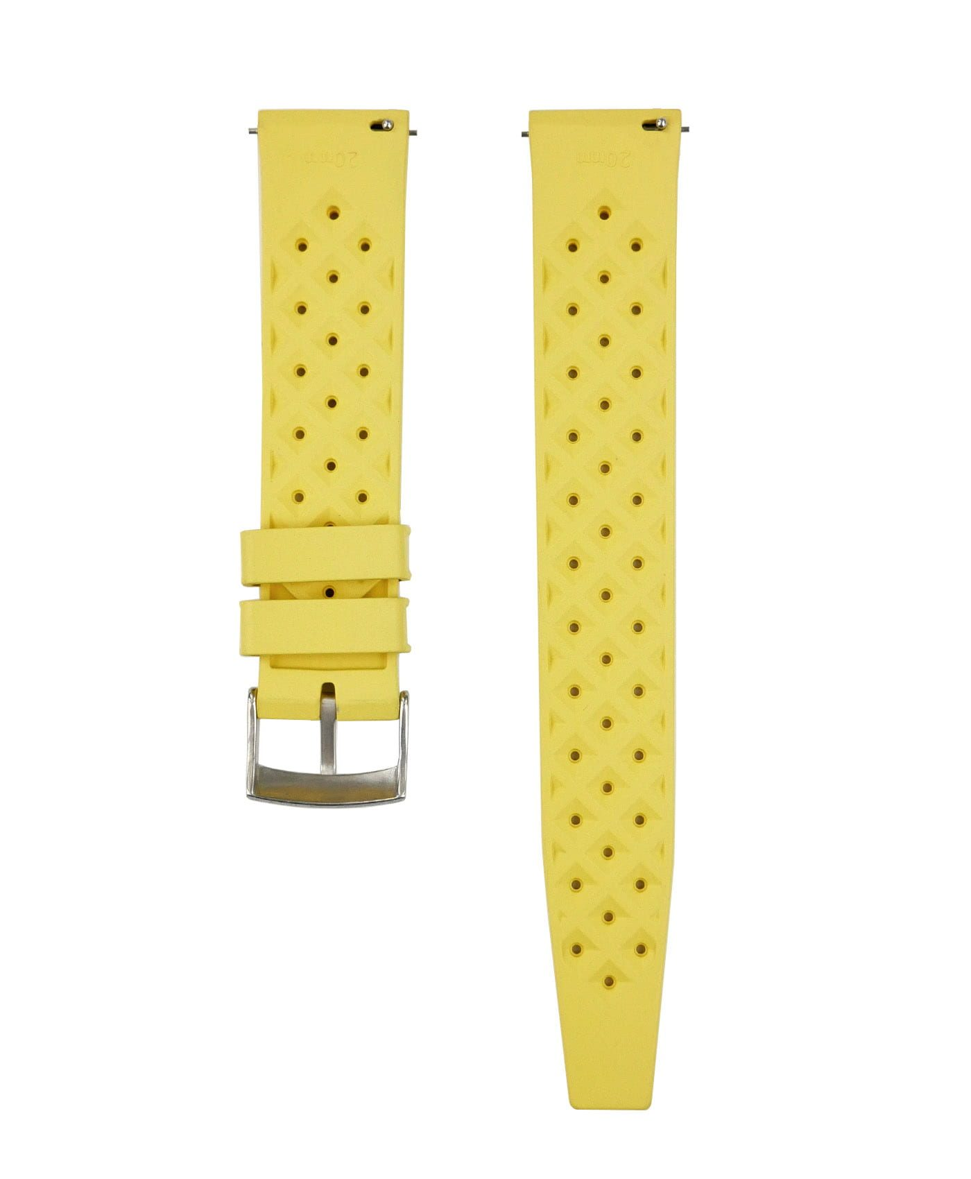 Tropical Rubber watch strap_Yellow_Back