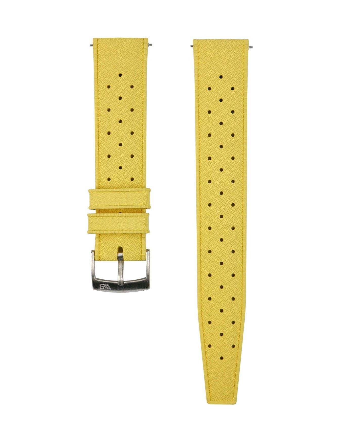 Tropical Rubber watch strap_Yellow_Front