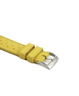 Tropical Rubber watch strap_Yellow_Buckle