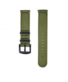 WB_Two_Piece_Nato_strap_green_black_PVD_front