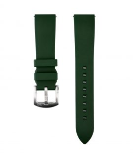 Classic plain Rubber watch strap_Green_Front