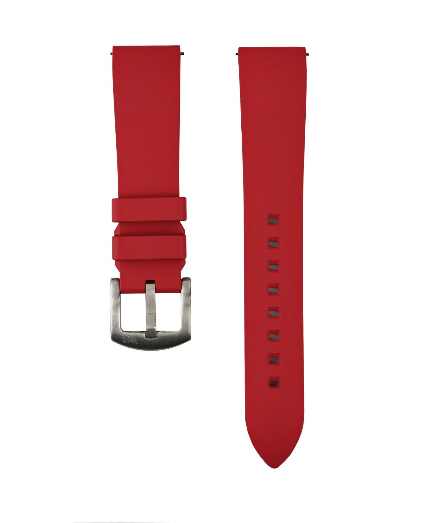 Classic Rubber watch strap_Red_Front