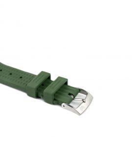 Waffle Rubber watch strap_Green_Side buckle