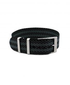 Adjustable black-grey Nato-straps front